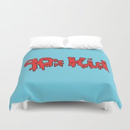 90s Kids -- Blue Duvet Cover