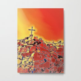Cross on a Hill Metal Print