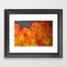 Fire on pixel (watercolor) Framed Art Print