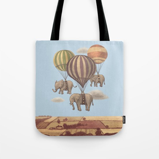 Flight of the Elephants - colour option Tote Bag