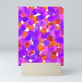 Watercolor Circles - Purple Red Orange Palette Mini Art Print