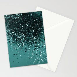Teal Mermaid Ocean Glitter #3 #shiny #decor #art #society6 Stationery Cards