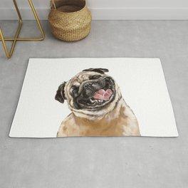 Happy Laughing Pug Rug