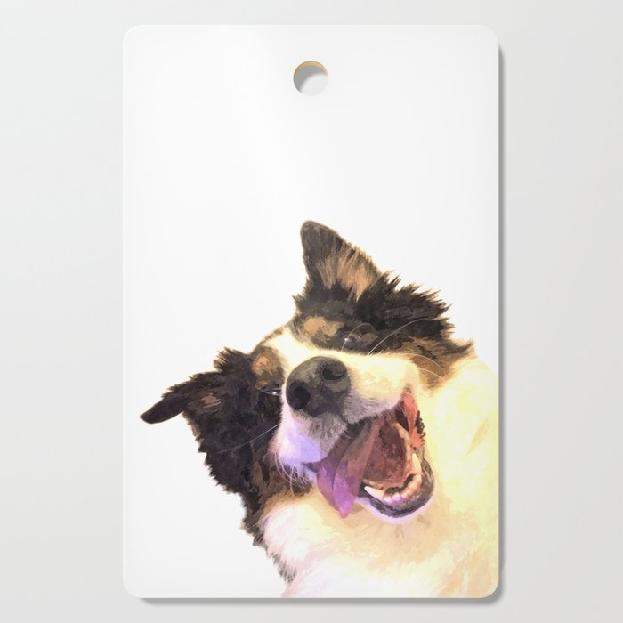 Happy Dog Cutting Board