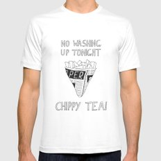 Chippy Tea MEDIUM White Mens Fitted Tee