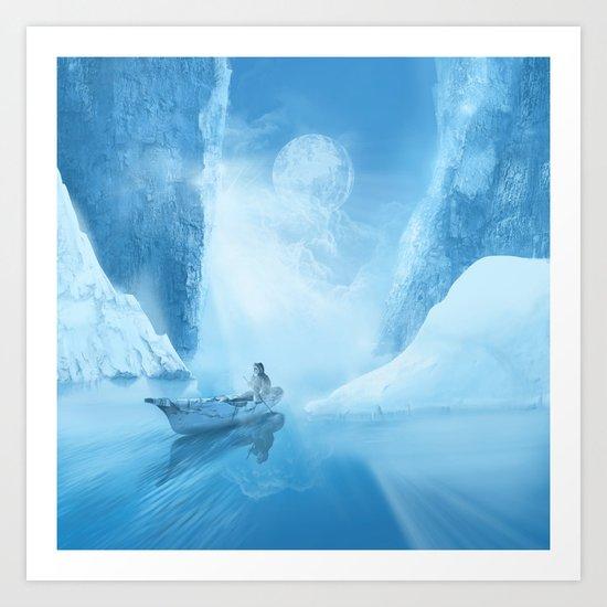 white landscape Art Print