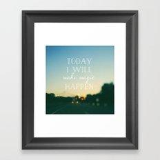 Today I Will Make Magic Framed Art Print