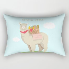 Alpaca Lunch Rectangular Pillow