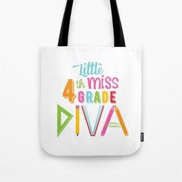 Little Miss 4th Grade Diva Tote Bag