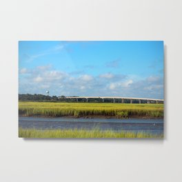 Seaside To Mainland Bridge Metal Print
