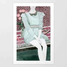 Sitting Girl Art Print