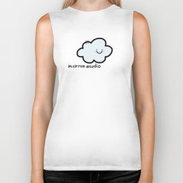 Cheery Cloud Cluster Biker Tank