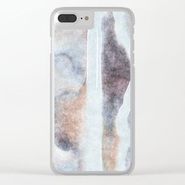 stained fantasy snowy highway Clear iPhone Case
