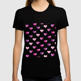 Pink Love Hearts T-shirt
