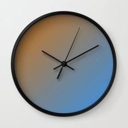 Calm waves gradient color Wall Clock