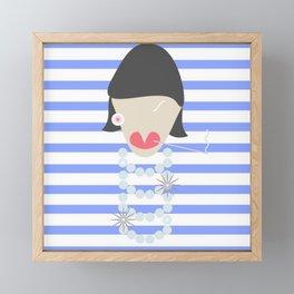 FRENCH FASHION ICON Framed Mini Art Print