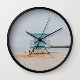 no lifeguard iv / santa cruz, california Wall Clock