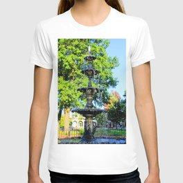 Fountain in Pella, Iowa T-shirt