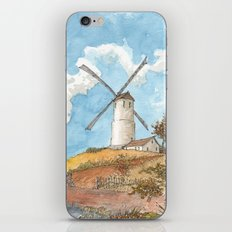 Windmill Against a Blue Sky iPhone & iPod Skin