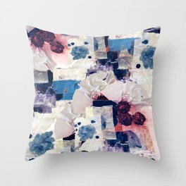 patchy collage Throw Pillow