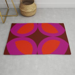 Arthur - Colorful Abstract Art Red Pink Rug