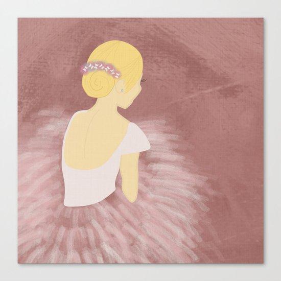 Ballerina Dancer Blonde Canvas Print