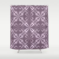 calligraphy Shower Curtains featuring Calligraphy by David Zydd