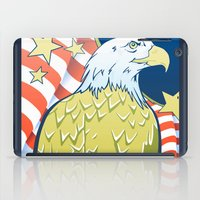 patriotic iPad Cases featuring Patriotic Eagle by whiterabbitart