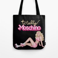 moschino Tote Bags featuring MOSCHINO SKATER BARBIE by RickyRicardo787