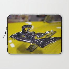 Yellow Nash Metropolitan Hood Ornament Laptop Sleeve
