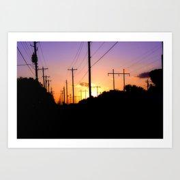 Lines of power Art Print