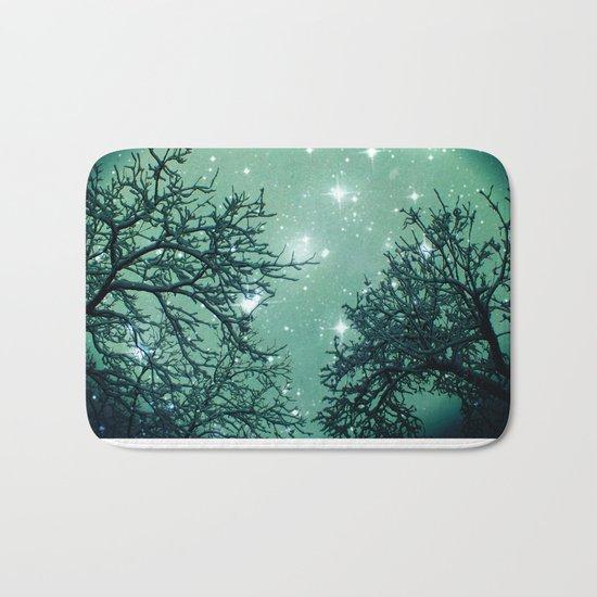 Aqua Skies N Stars Through The Trees Bath Mat