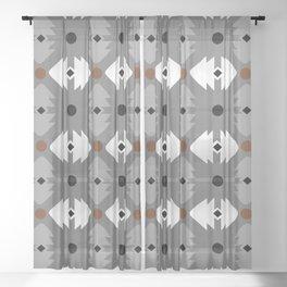 Modern Desert Fox Southwest Pattern Sheer Curtain