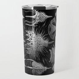 Plankton Shells (Cyrtoidea) by Ernst Haeckel Travel Mug