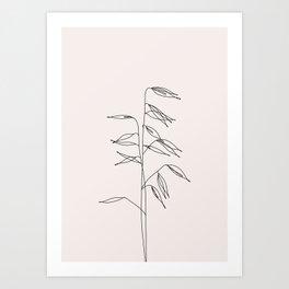 Japanese style plant illustration - Olivia I Art Print