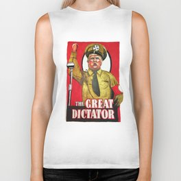 Donald Trump The Great Dictator Biker Tank