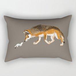 Italian Wolf & Stoat (c) 2017 Rectangular Pillow