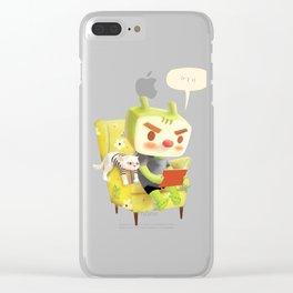 Hmm Clear iPhone Case