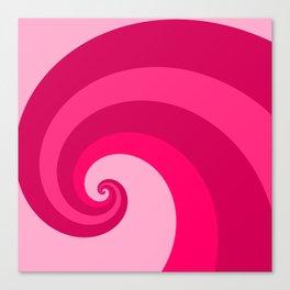 pink wave Canvas Print