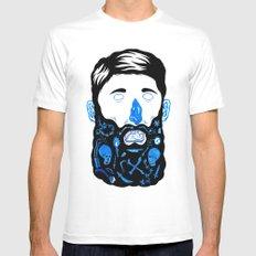 Pirate Beard Mens Fitted Tee White MEDIUM