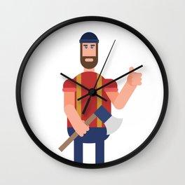 Encouraging Lumberjack Wall Clock