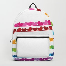 Rainbow hearts vector valentine day background  Backpack