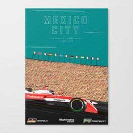 Mahindra Racing FIA Formula E Season Three Race 04 Mexico City ePrix Poster Canvas Print