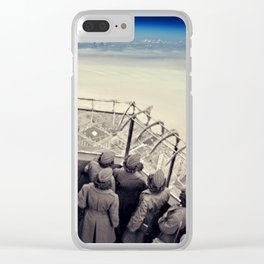 Two sides, two reality... Clear iPhone Case