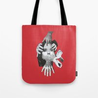 mad Tote Bags featuring Mad by fabiotir