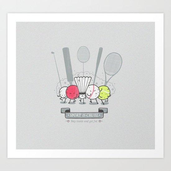 Ball basher Art Print
