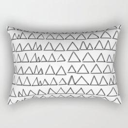 Triangels_black Rectangular Pillow