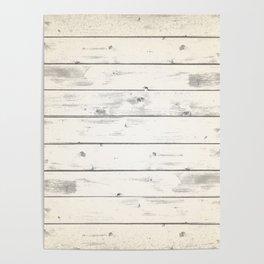 Light Natural Wood Texture Poster