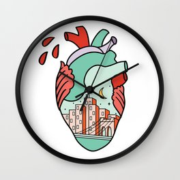 I Heart NY Wall Clock