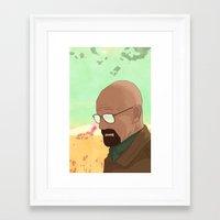 gta Framed Art Prints featuring GTA Walter White by dbarroso
